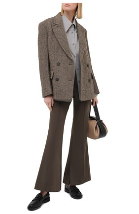 Женская хлопковая рубашка LOW CLASSIC серого цвета, арт. L0W20FW_SH04GR | Фото 2