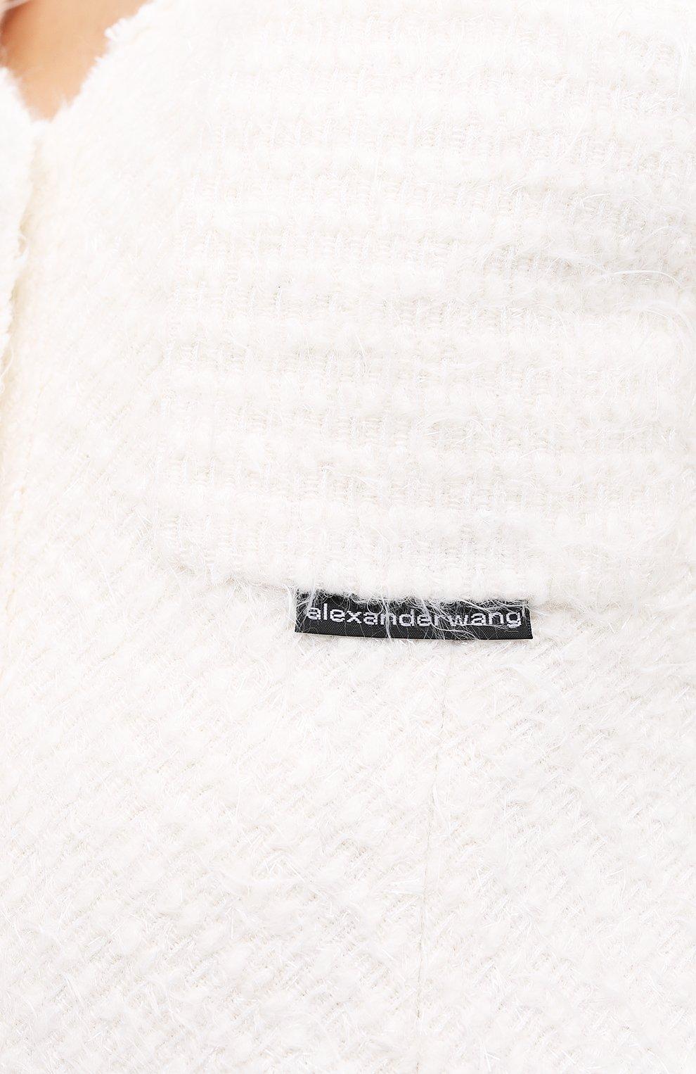 Женский жакет ALEXANDER WANG белого цвета, арт. 1WC2202239   Фото 5