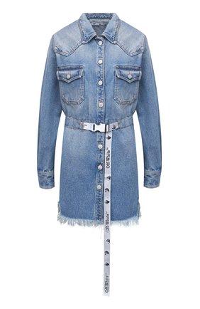 Женское джинсовое платье OFF-WHITE голубого цвета, арт. 0WYM004E20DEN0024001 | Фото 1