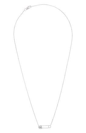 Женское колье J-POINT белого цвета, арт. ИПГ857.40.090920.20W   Фото 1