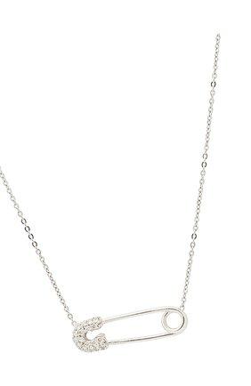 Женское колье J-POINT белого цвета, арт. ИПГ857.40.090920.20W   Фото 2