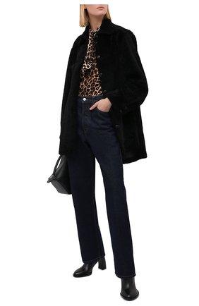 Женская дубленка ANNE VEST черного цвета, арт. AW20/01/303/01/AVRIL SHIRT | Фото 2 (Длина (верхняя одежда): До середины бедра; Материал внешний: Натуральный мех; Рукава: Длинные; Женское Кросс-КТ: Замша и кожа, Мех)