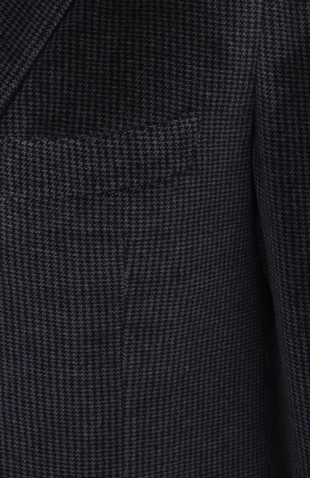 Мужской костюм KNT серого цвета, арт. UAS0101K01T28 | Фото 6 (Рукава: Длинные; Костюмы М: Однобортный; Материал внешний: Синтетический материал, Хлопок; Материал подклада: Купро; Стили: Кэжуэл)