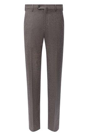 Мужские шерстяные брюки LORO PIANA коричневого цвета, арт. FAL4318 | Фото 1 (Материал внешний: Шерсть; Длина (брюки, джинсы): Стандартные; Случай: Повседневный; Материал подклада: Синтетический материал; Стили: Кэжуэл)