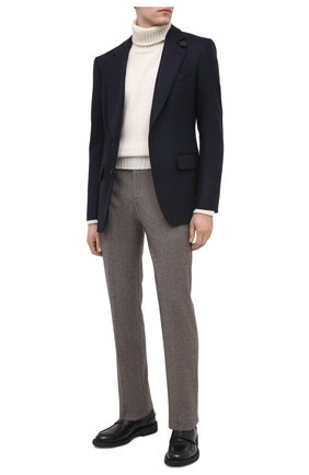 Мужской шерстяные брюки LORO PIANA темно-бежевого цвета, арт. FAL4318   Фото 2