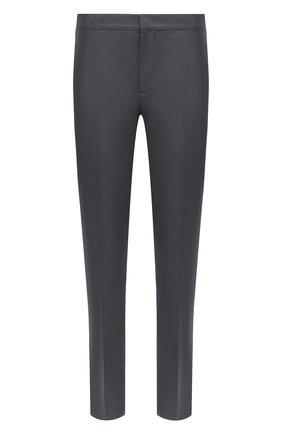 Мужские брюки из шерсти и шелка BRUNELLO CUCINELLI серого цвета, арт. MF460PS99 | Фото 1