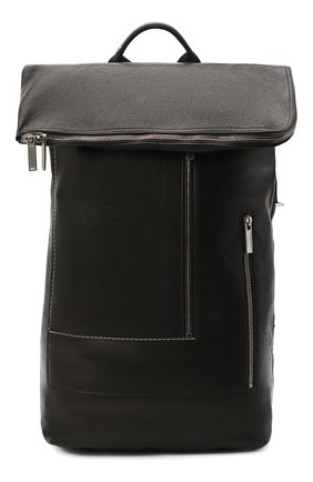 Мужской кожаный рюкзак RICK OWENS черного цвета, арт. RA20F0669/LCW | Фото 1