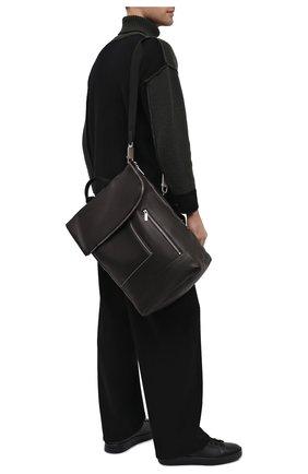 Мужской кожаный рюкзак RICK OWENS черного цвета, арт. RA20F0669/LCW | Фото 2