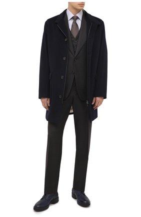 Мужской шерстяной костюм-тройка TOM FORD серого цвета, арт. 822R09/31AL43 | Фото 1