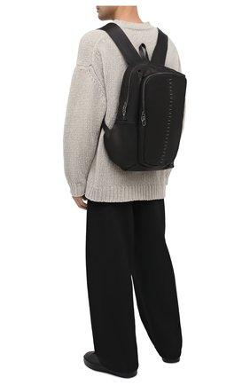 Мужской кожаный рюкзак DANIELE BASTA черного цвета, арт. DB734X25X17GR/0BA GR | Фото 2