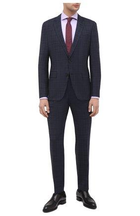 Мужской шерстяной костюм BOSS темно-синего цвета, арт. 50438491   Фото 1
