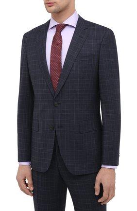 Мужской шерстяной костюм BOSS темно-синего цвета, арт. 50438491   Фото 2