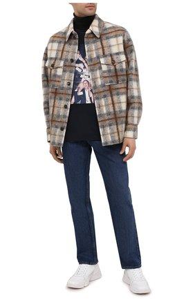 Мужская хлопковая футболка LIMITATO темно-синего цвета, арт. BE CAREFUL/T-SHIRT | Фото 2