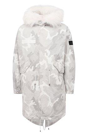 Мужская пуховая парка BARBED белого цвета, арт. M72L P | Фото 1