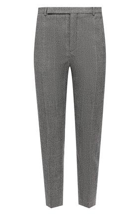 Мужской шерстяные брюки SAINT LAURENT серого цвета, арт. 596927/Y1B54 | Фото 1