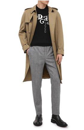Мужской шерстяные брюки SAINT LAURENT серого цвета, арт. 596927/Y1B54 | Фото 2