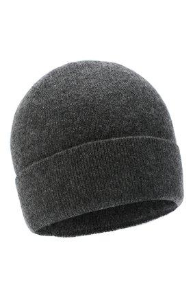 Мужская кашемировая шапка poland CANOE темно-серого цвета, арт. 4915311 | Фото 1