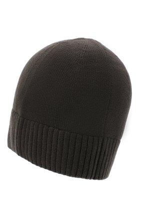 Мужская кашемировая шапка lisbon CANOE хаки цвета, арт. 4912485 | Фото 2