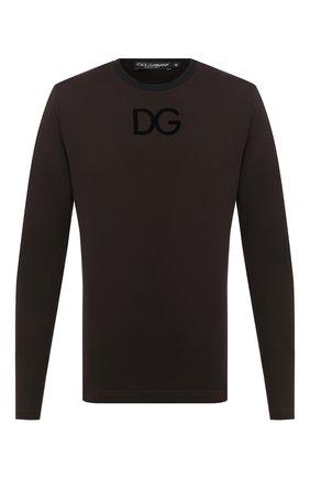 Мужская хлопковый лонгслив DOLCE & GABBANA коричневого цвета, арт. G8KF6T/G7WUX | Фото 1