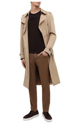 Мужская хлопковый лонгслив DOLCE & GABBANA коричневого цвета, арт. G8KF6T/G7WUX | Фото 2