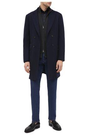 Мужская хлопковая рубашка ETON черного цвета, арт. 1000 01865 | Фото 2