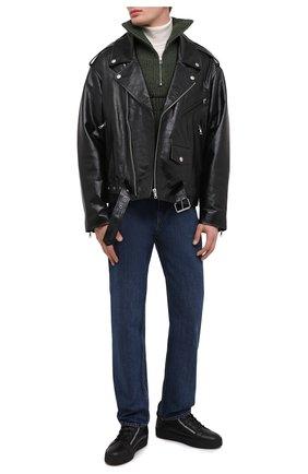 Мужские кожаные кеды kriss winter GIUSEPPE ZANOTTI DESIGN черного цвета, арт. RU00019/001 | Фото 2