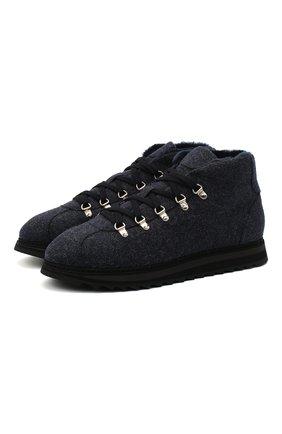 Мужские текстильные ботинки DOUCAL'S темно-синего цвета, арт. DU1792WINNUM0322B00 | Фото 1