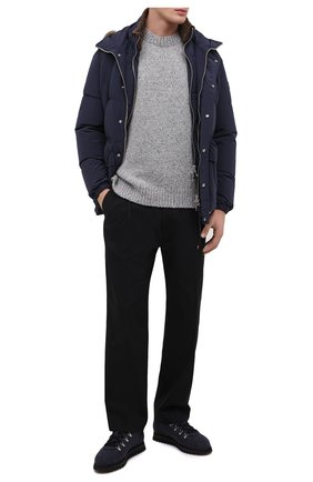 Мужские текстильные ботинки DOUCAL'S темно-синего цвета, арт. DU1792WINNUM0322B00 | Фото 2