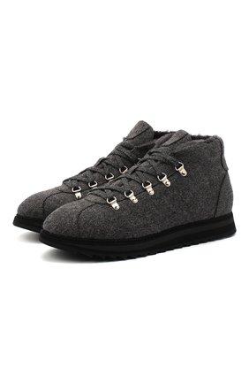 Мужские текстильные ботинки DOUCAL'S темно-серого цвета, арт. DU1792WINNUM0322N05 | Фото 1