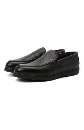 Мужские кожаные лоферы arturo DOUCAL'S темно-коричневого цвета, арт. DU2653ED0-UM019TM00 | Фото 1