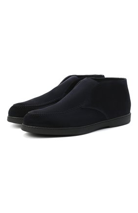 Мужские замшевые ботинки DOUCAL'S темно-синего цвета, арт. DU2654ED0-UM024NB00 | Фото 1