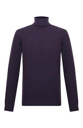 Мужской шерстяной свитер ALTEA фиолетового цвета, арт. 2061074 | Фото 1