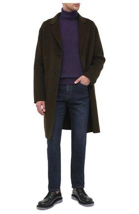 Мужской шерстяной свитер ALTEA фиолетового цвета, арт. 2061074 | Фото 2