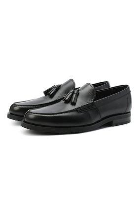 Мужские кожаные лоферы TOD'S черного цвета, арт. XXM0ZF0CP60LYG | Фото 1