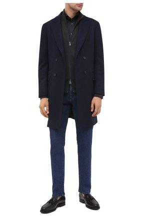 Мужские кожаные лоферы TOD'S черного цвета, арт. XXM0ZF0CP60LYG | Фото 2