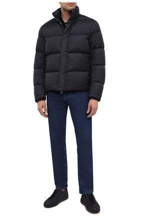 Мужская пуховая куртка EMPORIO ARMANI темно-синего цвета, арт. 8N1BN3/1NHQZ | Фото 2