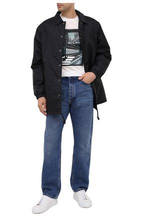 Мужская хлопковая футболка EMPORIO ARMANI белого цвета, арт. 6H1TA3/1JDXZ   Фото 2