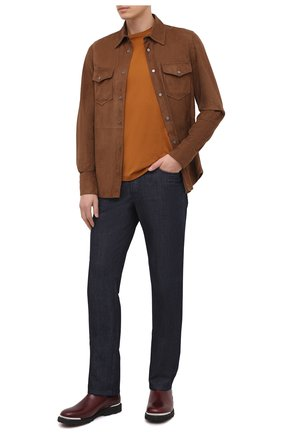 Мужская замшевая рубашка TOM FORD коричневого цвета, арт. BV414/TFL646 | Фото 2