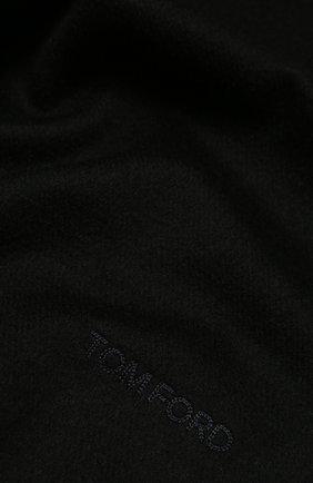 Мужской кашемировый шарф TOM FORD темно-синего цвета, арт. 8TF134/2T8 | Фото 2