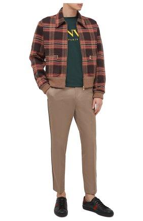 Мужская шерстяной кардиган GUCCI разноцветного цвета, арт. 633111/XJCVF | Фото 2