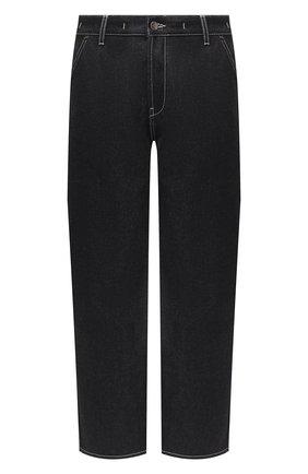 Мужские джинсы JACQUEMUS темно-синего цвета, арт. 206DE01/137390   Фото 1 (Материал внешний: Хлопок; Длина (брюки, джинсы): Стандартные; Силуэт М (брюки): Широкие; Стили: Минимализм)