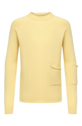 Мужской шерстяной свитер JACQUEMUS желтого цвета, арт. 206KN31/200220   Фото 1