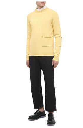 Мужской шерстяной свитер JACQUEMUS желтого цвета, арт. 206KN31/200220   Фото 2