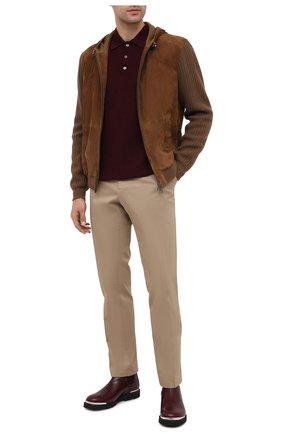 Мужское шерстяное поло ALTEA бордового цвета, арт. 2061107 | Фото 2