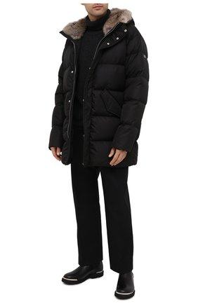 Мужская пуховик LEMPELIUS черного цвета, арт. 3000/677RS25   Фото 2