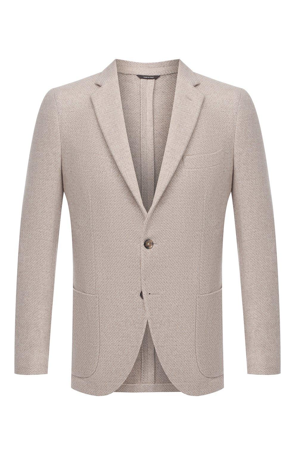 Мужской кашемировый пиджак LORO PIANA кремвого цвета, арт. FAL2971 | Фото 1