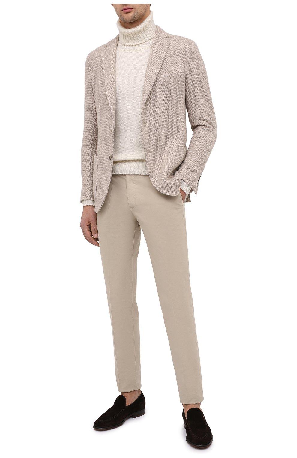 Мужской кашемировый пиджак LORO PIANA кремвого цвета, арт. FAL2971 | Фото 2