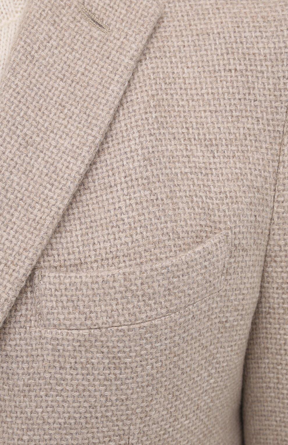 Мужской кашемировый пиджак LORO PIANA кремвого цвета, арт. FAL2971 | Фото 5