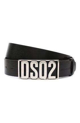 Мужской кожаный ремень DSQUARED2 черного цвета, арт. BEM0290 12900001 | Фото 1