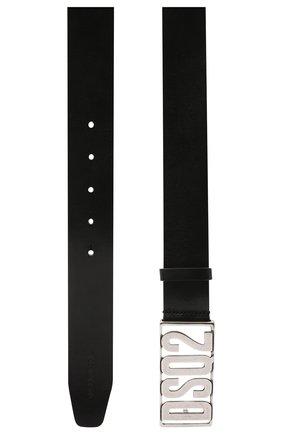 Мужской кожаный ремень DSQUARED2 черного цвета, арт. BEM0290 12900001 | Фото 2